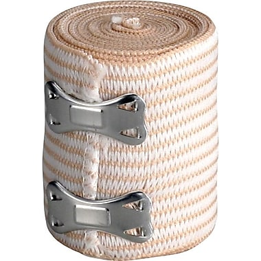First Aid Only Elastic Bandage Wrap w/ 2 Fasteners, Latex-free, 3in. x 5 yd, 1/box