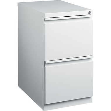 Staples 23in. Deep, 2-Drawer, Mobile Pedestal File, Light Gray