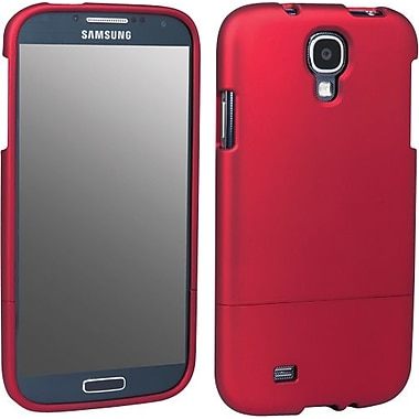 Staples Rubberized Shell for Samsung Galaxy S4, Red