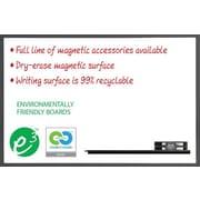"Magna Visual Elite Office Dry-Erase Board Kit, Black Aluminum Frame, 72""W x 48""H"