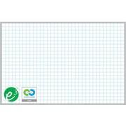 """Magna Visual Porcelain Magnetic Gridded Dry-Erase Board, Aluminum Frame, 48""""W x 36""""H, 1""""H x 1""""W grid"""
