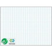 """Magna Visual Porcelain Magnetic Gridded Dry-Erase Board, Aluminum Frame, 72""""W x 48""""H, 1""""H x 2""""W grid"""