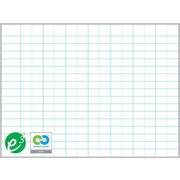 """Magna Visual Porcelain Magnetic Gridded Dry-Erase Board, Aluminum Frame, 48""""W x 36""""H, 2""""H x 3""""W grid"""