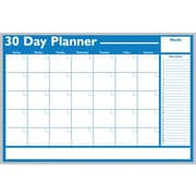 Magna Visual Economical 30 Day Non Magnetic Planning Board, Aluminum Frame, 36 inch W x 24 inch H by
