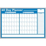 Magna Visual Economical 60 Day Non Magnetic Planning Board, Aluminum Frame, 36 inch W x 24 inch H by
