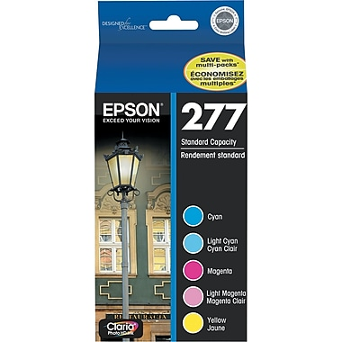 Epson 277 C/M/Y/LC/LM Color Ink Cartridges (T277920), 5/Pack