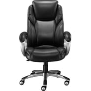 Staples Coopersly Bonded Leather Managers Chair, Black