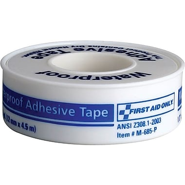 First Aid Only Waterproof tape w/ plastic spool, 1in. x 5 yd