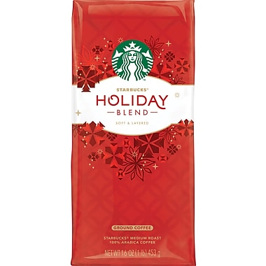 Starbucks® Holiday Blend Coffee, Regular, 1 lb. Bag