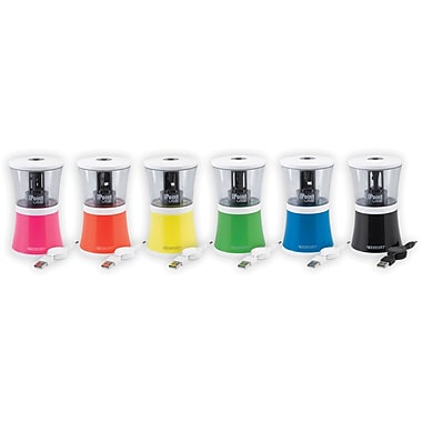 Westcott iPoint USB Pencil Sharpeners, Assorted Colors