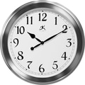 Infinity Instruments The Argent Modern Faux Brushed Metal Wall Clock