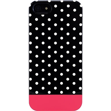 Uncommon Mini Black Dots Fuschia iPhone 5 Capsule