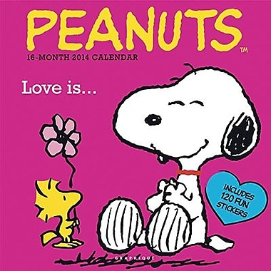 2014 Graphique Peanuts Monthly Multi-Color Illustration Deco Wall Calendar, 12in. x 12in.