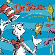 2014 Graphique Dr. Seuss Monthly Multi-Color Illustration Deco Wall Calendar, 12 x 12
