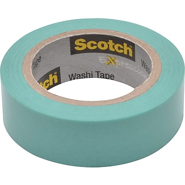 Scotch® Expressions Washi Tape, Pastel Blue, 3/5in. x 393in.