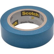 "Scotch® Expressions Washi Tape, Blue, 3/5"" x 393"""