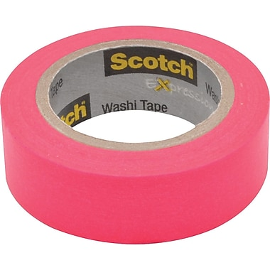 Scotch® Expressions Washi Tape, Pink, 3/5in. x 393in.