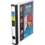 1'' Staples Better® Binder with Pocket & D-Ring, White
