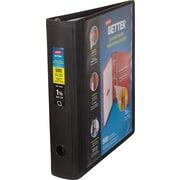 1-1/2'' Staples Better® Binder with Pocket & D-Ring, Black