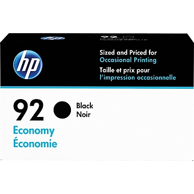 HP 92 Economy Black Ink Cartridge (D8J35AN)
