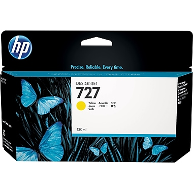 HP 727 130-ml Yellow Ink Cartridge (B3P21A), High Yield