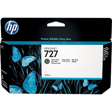 HP 727 130-ml Matte Black Ink Cartridge (B3P22A), High Yield