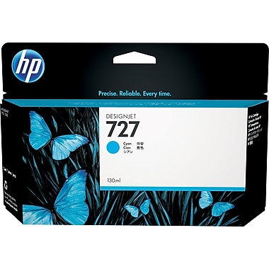HP 727 130-ml Cyan Ink Cartridge (B3P19A), High Yield