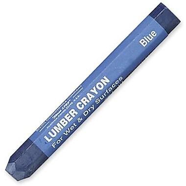 Dixon® Lumber Crayons, Blue, 12/Pack
