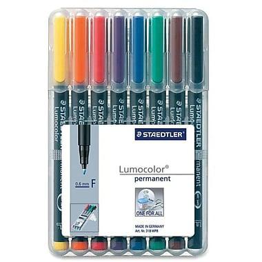 Staedtler® Lumocolour Permanent Markers, Fine Tip, 8/Pack