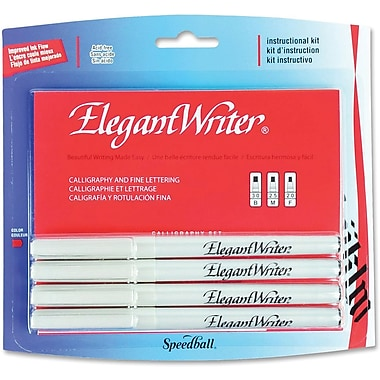Speedball® Elegant Writer Calligraphy Marker Instructional Set, 4-Piece Set