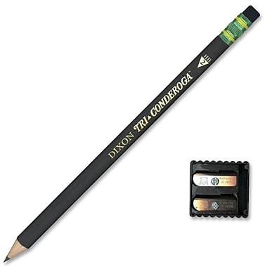 TiconderogaMD – Crayons triangulaires de direction Tri-Conderoga, Hb-Medium, 12/paquet