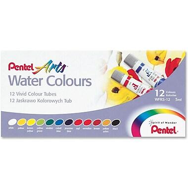 Pentel® Watercolour Paint Set, Assorted, 12/Pack