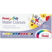 Pentel® Watercolour Paint Set, Assorted, 12/Pack