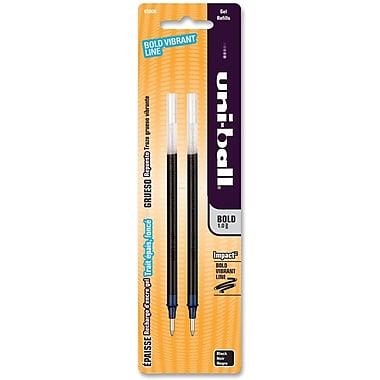 Uni-ball MD – Recharge pour stylos Impact 207 MC, pointe grasse de 1,2 mm, noir, 2/paquet