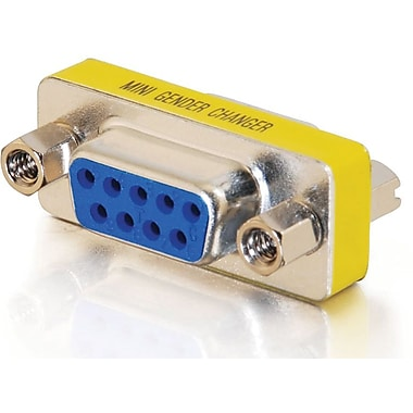 C2G DB9 F/F Mini Gender Changer, Coupler)