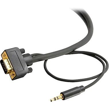 C2G – Flexima(MD) Câble d'écran audio stéréo HD15 UXGA, 3,5 mm, 10,6 m/35 pi, M/M