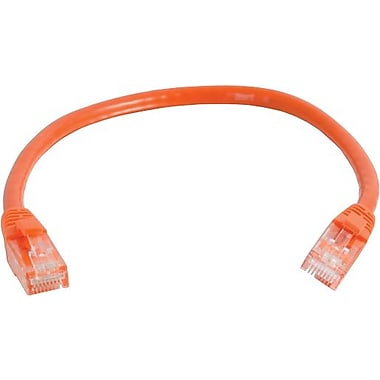 C2G Cat6 Snagless UTP Unshielded Network Patch Cable, 2.1m/7', Orange