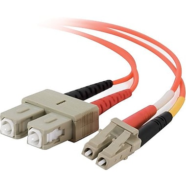 C2G LC/SC Duplex 62.5/125 Multimode Fiber Patch Cable, 3m/9.8' Orange
