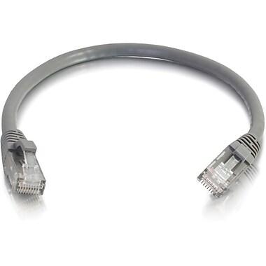 C2G – Câble réseau de raccordement UTP non blindé anti-accrochage de catégorie 6, 7,6 m/25 pi, gris