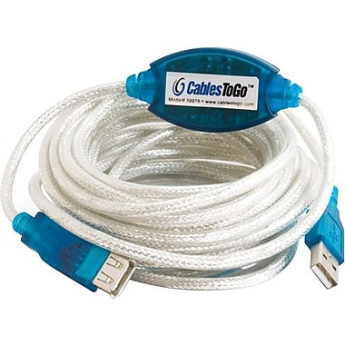 C2G USB 2.0 A Male to A Female Active Extension Cable, 5m/16.4'