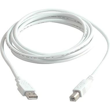 C2G – Câble USB 2.0 A/B, 3 m/9,8 pi, blanc