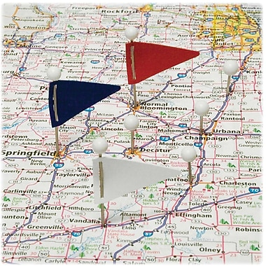 Gem™ Triangular Map Flags, Assorted Colours, 75/Pack