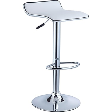 Powell® Faux Leather Bar Stool, White