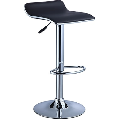 Powell® Faux Leather Bar Stool, Black