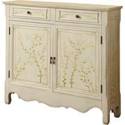 Powell® Console With Hand Painted 2 Doors, White