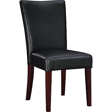 Powell® Bonded Leather Parsons Chair, Black