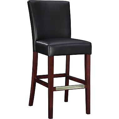 Powell® Bonded Leather Bar Stool, Black