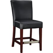 Powell® Bonded Leather Counter Stool, Black