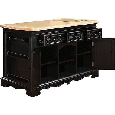 Powell® Pennfield Kitchen Island, Black/Natural