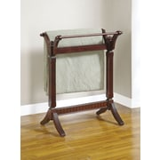 Powell® Contemporary Blanket Rack, Merlot
